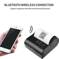 Zjiang 8001 Portable Mini Bluetooth Printer 80mm Wireless Thermal Receipt Printer For Mobile Phone 2000mAh battery with USB port