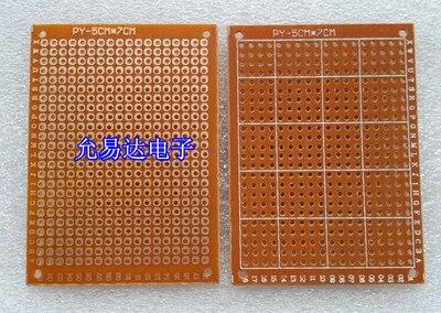 98-25 Free Shipping 10pcs 5x7cm Prototype Paper PCB Universal  Circuit Board