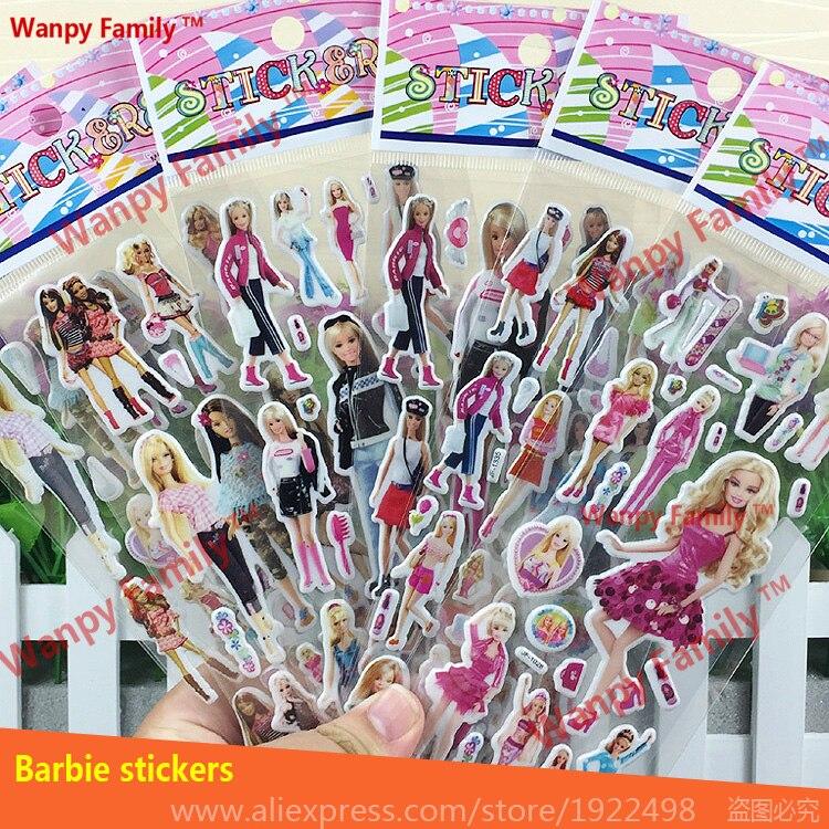 っVery Lovely Barbie Stickers 3d cartoon Barbie wall stickers for ...
