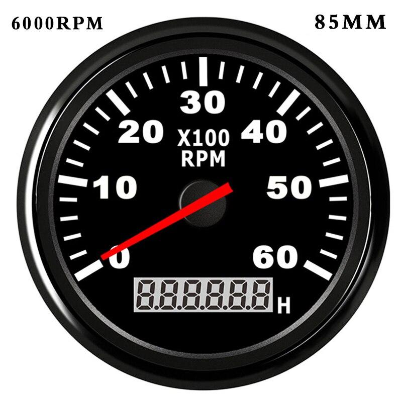 85 мм/52 мм тахометр с ЖК дисплеем, 4000/6000/8000 об/мин, Тахометр для дизельного бензинового двигателя, судового автомобиля, тахометр|Тахометры|   | АлиЭкспресс