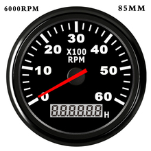 85mm /52 mm Boat Tachometer with LCD Hourmeter 4000/6000/ 8000RPM Tachometer for Diesel Gasoline Engine Marine Car Tacho Meter цена 2017