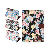 Flower Painted Pu Leather Stand Holder Cover Case For Samsung Galaxy Tab S2 T710 T715 8