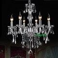 роскошные современные хрустальная люстра свет современные краткие искусство свечи люстры освещение лампы освещения люстра современный ша...