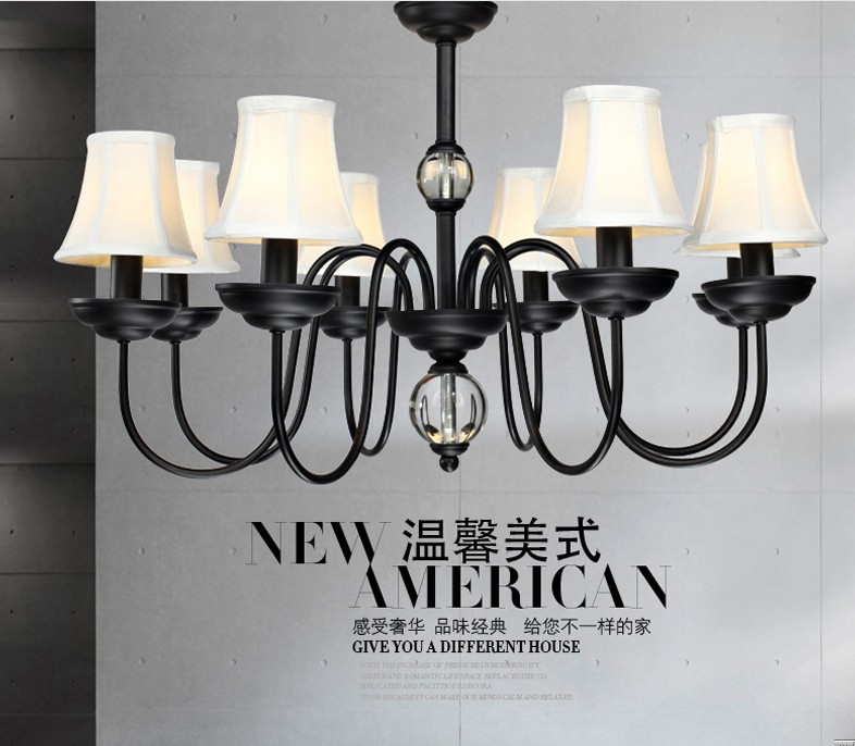 American country wrought iron chandelier small living room bedroom light