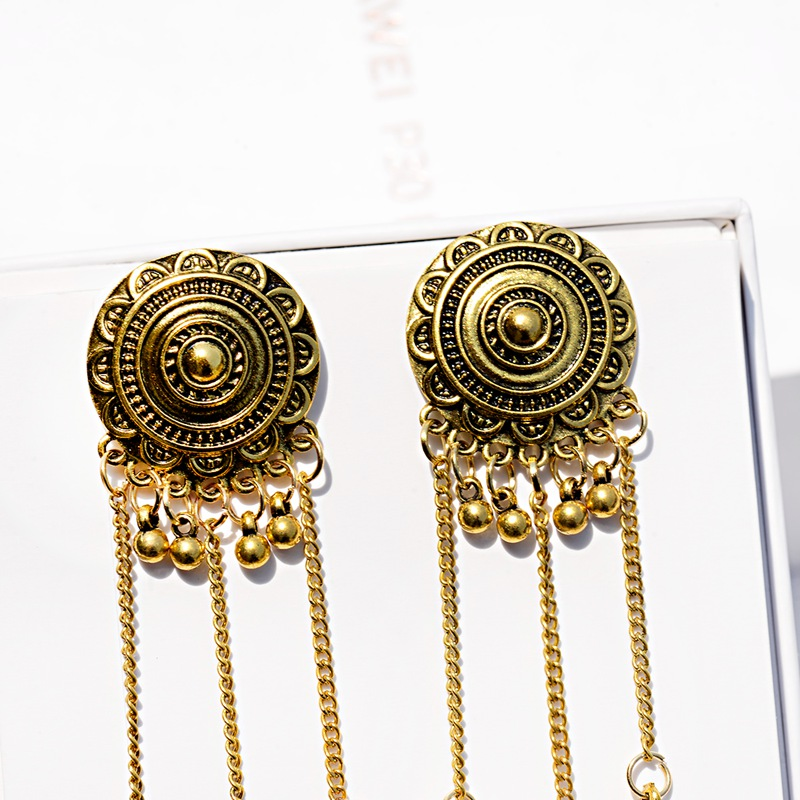 Best Sale A931 Women S Geometric Alloy Long Chain Jhumka Dangle