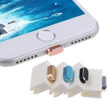 91336e6cfc2e4e Metal Skóry PC Ładowarka Port Anti Pył Podłącz Cap Korek Pokrywa Dla IPhone  7 Port USB