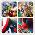 Mouse pad art painting super man