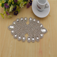 Free Shipping 2014 New Wholesale Bridal Appliques And Trims Beaded Lace Rhinestone Applique RT014