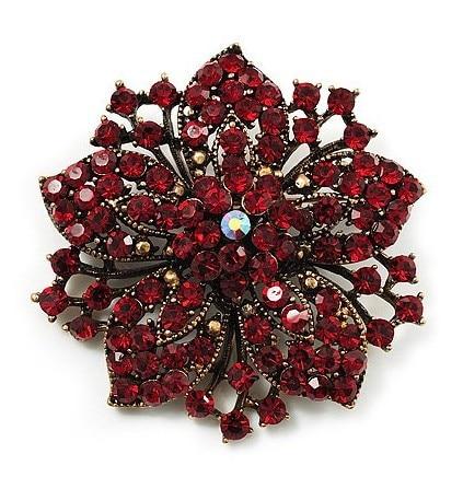 2,2 дюймов винтажная Серебряная черная Хрустальная Морская звезда, брошь для вечеринки, выпускного, ювелирные изделия, подарки - Окраска металла: 9