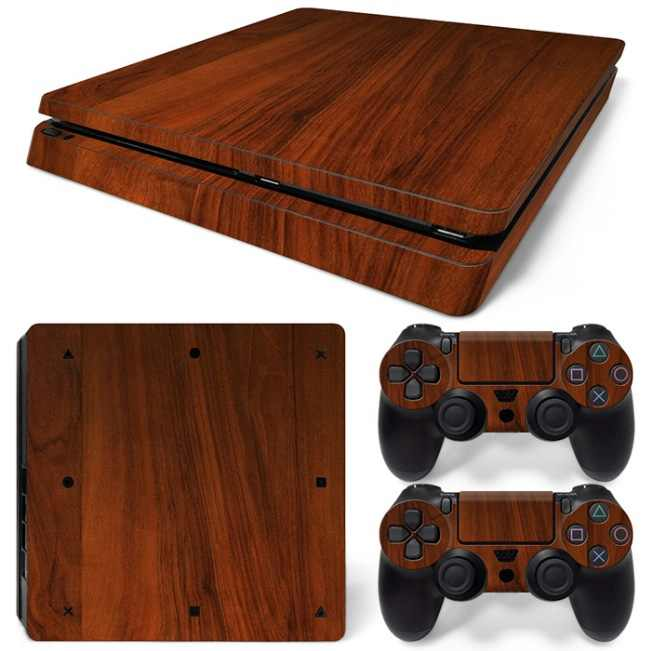 WOOD Adhesive Vinyl Sticker Skin For Ps4 Slim Skins Console Decal