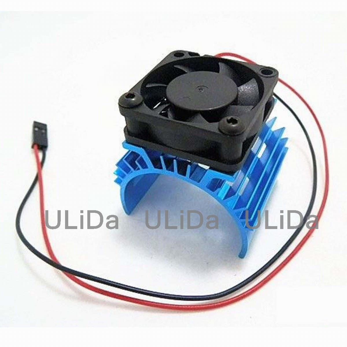 RC Aluminum Heat Sink + Fan Cooling For 540/550 Model Car Motor 7017