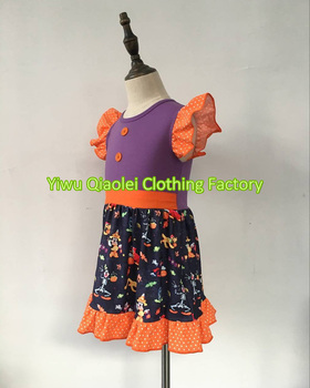 hot sale boutique halloween dress winter and fall kids clothing 1