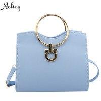 רשתות אופנה Aelicy ידית מתכת קטן תיקי Hotsale Laides נשים תיק שליח מותג מפורסם ארנק מצמד ערב עור