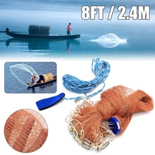 SEWS-уличная рыболовная сеть для отдыха, ручная метательная американская ручная метательная сеть, рыболовная сеть для рыбы, креветок