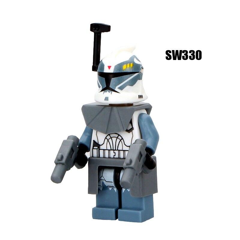 Single Sale Super Heroes Star Wars 330 Commander Wolffe Building Blocks Figure Bricks Toys Kids Gifts Compatible Legoed