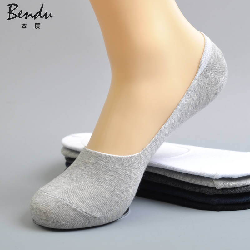 2017 Men Cotton No Show Socks Anti-Slip Slippers Comfortable Deodorant Breathable Casual Colorful Man Sock(5 Pairs / Lot)