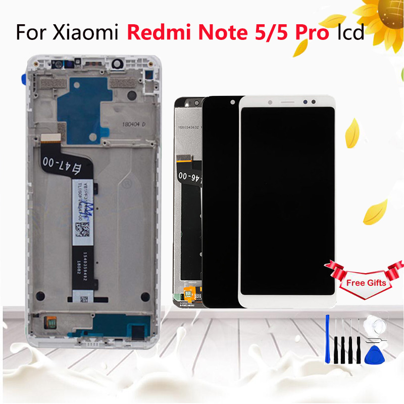 <font><b>5</b></font>.99 Inch For Xiaomi <font><b>Redmi</b></font> <font><b>Note</b></font> <font><b>5</b></font> <font><b>Pro</b></font> <font><b>LCD</b></font> Display Touch Screen Digitizer Assembly Replacement For <font><b>Redmi</b></font> Note5 <font><b>LCD</b></font> Black White image