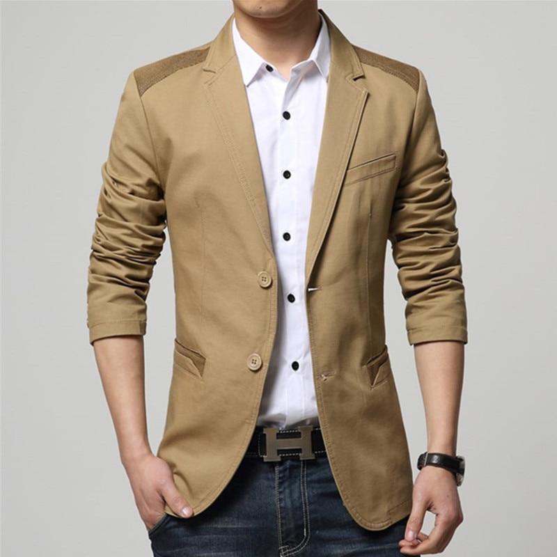 2018 새로운 뜨거운 판매 남자의 블레 이저 패션 재킷 남자 블레이저 슬림 피트 캐주얼 정장 블레 이저 outwear 코트 남성 블레이저 사이즈 M-5XL