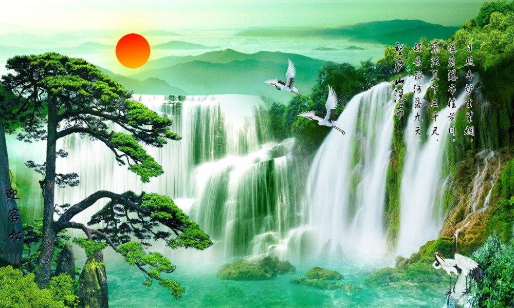 Photo Customize size curtain for bathroom waterfall custom curtains blackout curtain fabric 3d curtains