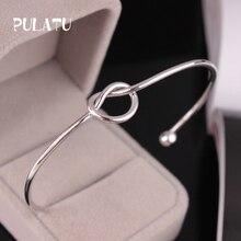 2 Color Minimalist Knot Bracelets for Women Open Adjustable Fashion Bracelet Jewelry Wholesale PULATU SZ0278