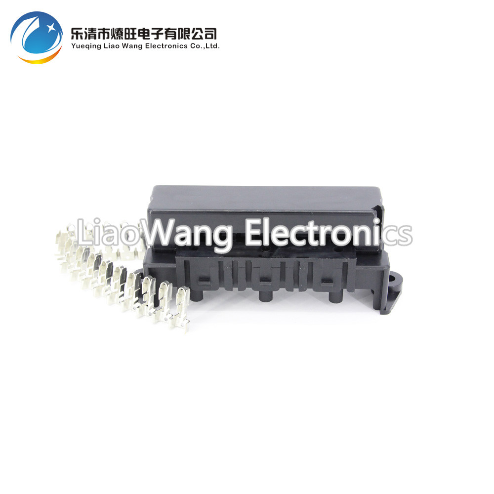 10 Way Auto fuse box assembly With terminals and 3PCS Relay seats Dustproof  fuse box fuse box mounting fuse box 1 set jd2912 12v automotive relay auto fuse relay with 30a fuse socket with wire