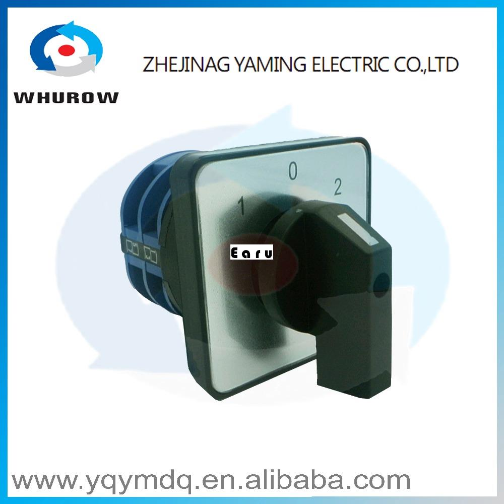 LW26-32/2 High quality dc voltage manual electrical changeover rotary cam switch two poles(phase) sliver point contacts rotary switch ymz12 25 4 changeover cam combination switch 4 poles 8 positions 14 terminals 25a ui 690v sliver point contacts