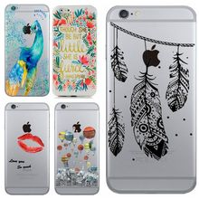 Phone Cases for iPhone 5 5S SE 6 6S 6Plus HENNA DREAM CATCHER Wind chimes balloons painted ANIMAL Flowers PC Silicon Cover Capa