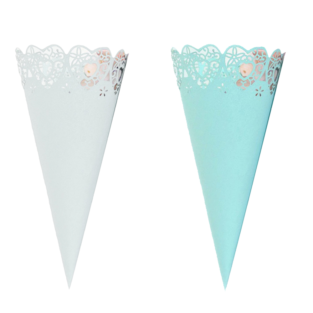 50pcs Cones Lace Paper Confetti Cake Decoration Candy Holder For Wedding Celebration Birthday Party Holiday Party New Arrivals50pcs Cones Lace Paper Confetti Cake Decoration Candy Holder For Wedding Celebration Birthday Party Holiday Party New Arrivals