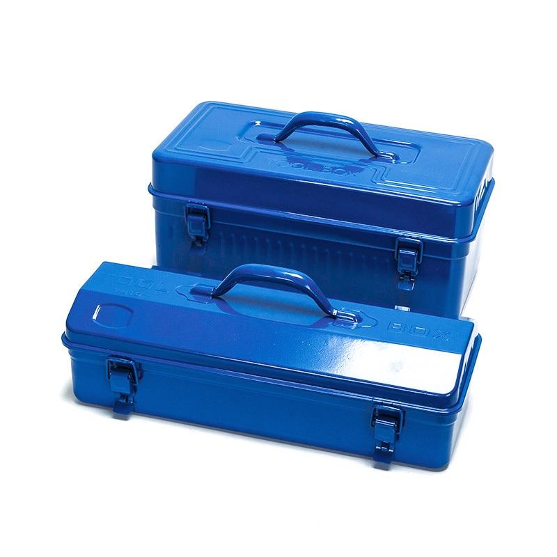 New Iron Metal Hand Toolbox Power Tools Storage Box Multi - Purpose Portable Repair Tool Box Hardware Accessories