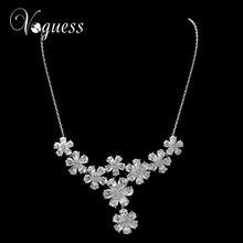 VOGUESS Women Fashion Flower Jewelry Luxury Crystal Rhinestone Statement Necklace & Pendant Choker Collar Free Shipping