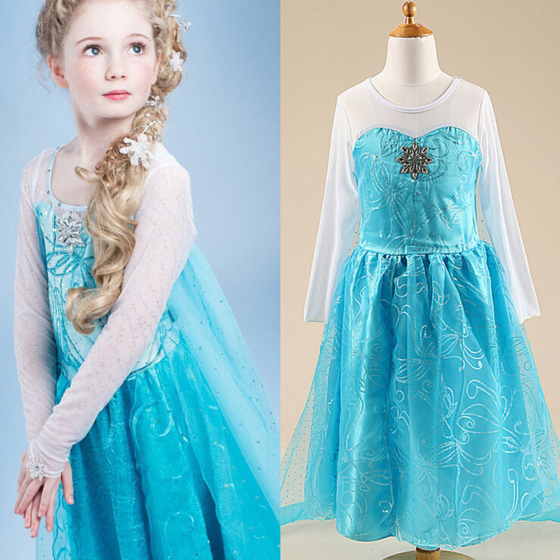 Baby Girls Dress Elsa Fever Anna Cosplay