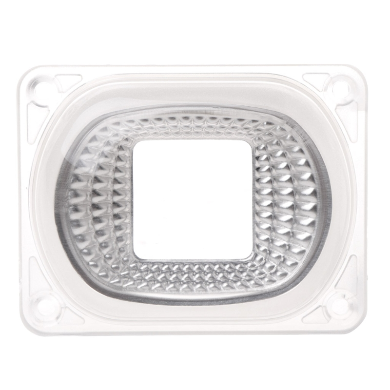 LED Lens Reflector For COB Lamps PC lens+Reflector+Silicone Ring Cover shade