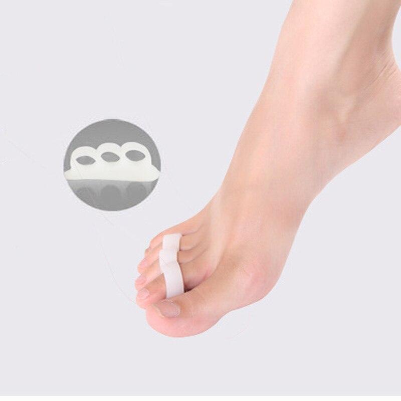 2Pcs=1Pair Silicone Toe Separator Orthotics Hallux Valgus Corrector Metatarsal Overlapping Straightener Shoes Insole Cushion Pad