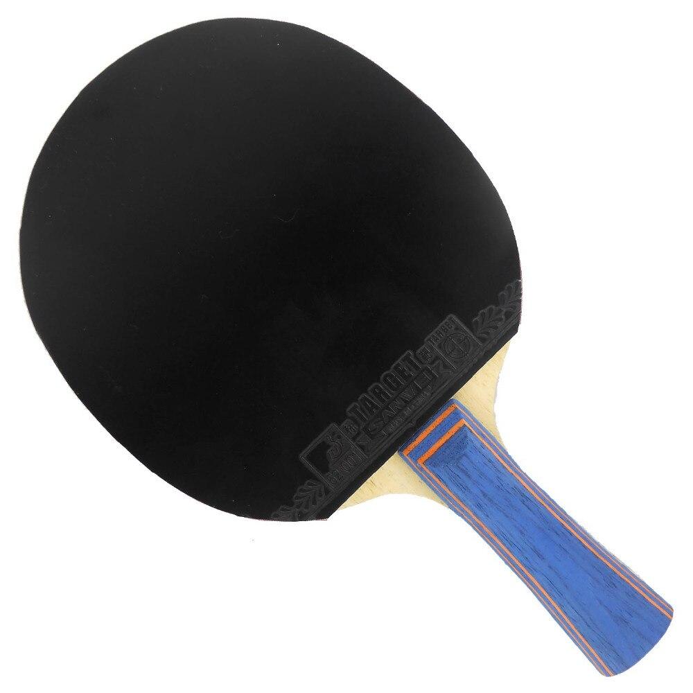 Pro Table Tennis PingPong Combo Paddle Racket Sanwei F3 + 2 Pcs Target Shakehand long handle FL