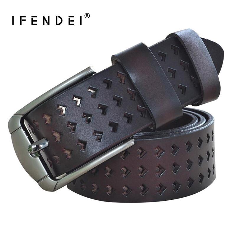 IFENDEI značkové pásy ženy vysoce kvalitní červený kožený - Příslušenství pro oděvy - Fotografie 3