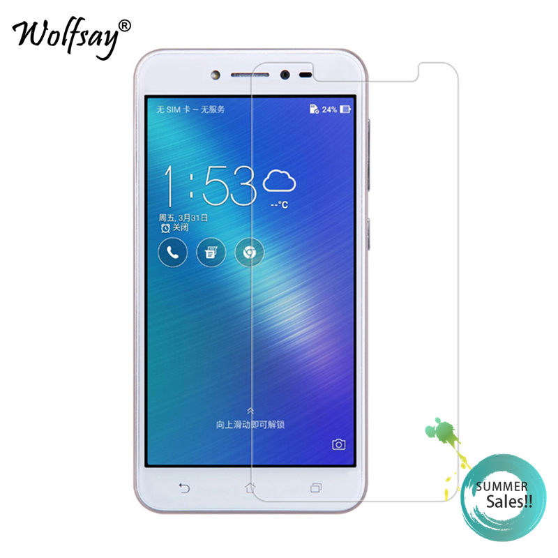 2pcs For Glass Asus Zenfone Live ZB501KL Screen Protector Tempered Glass For Asus Zenfone Live ZB501KL Protective Film Wolfsay
