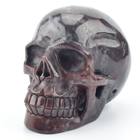 5,5 Большой размер хрустальный череп натуральный гелиотроп резная скульптура череп из драгоценных камней статуя реальное Исцеление декора