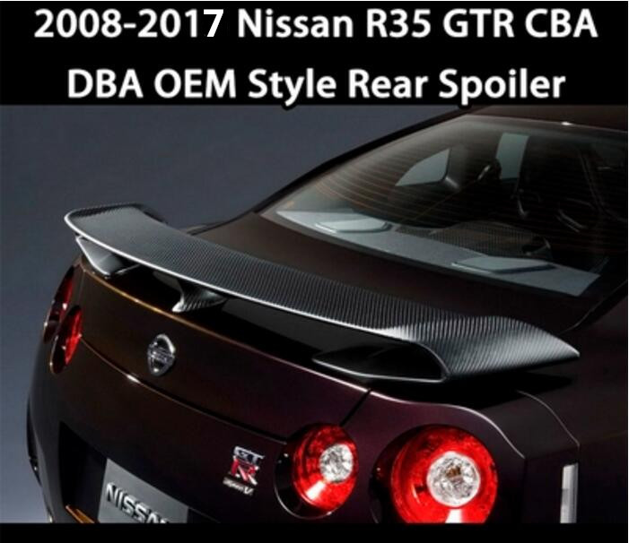 Carbon Fiber CAR REAR WING TRUNK SPOILER FOR Nissan GTR GT R R35 2008 2009 2010 2011 2012 2013 2014 2015 2016 2017