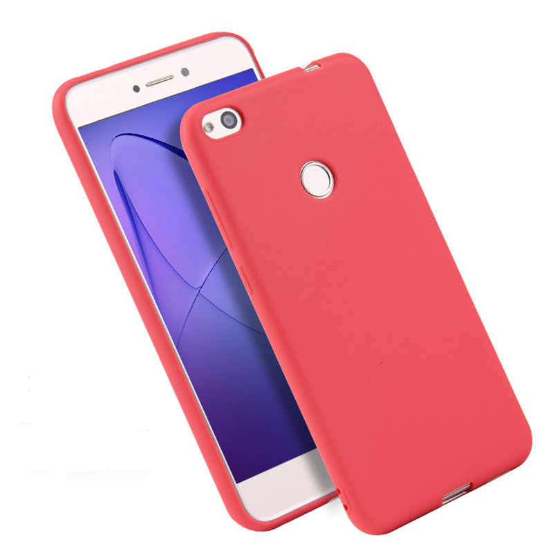 THREE-DIAO Ultra thin cover For Huawei Honor 8 honor 8 lite Silicone TPU soft case for Huawei P8 Lite 2017 Solid colors