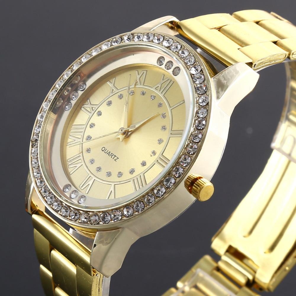 2018 New Geneva Brand Women Watch Alloy Steel Metal Reloj Fashion Luxury Diamond Watches Quartz Wristwatches female ladies saati