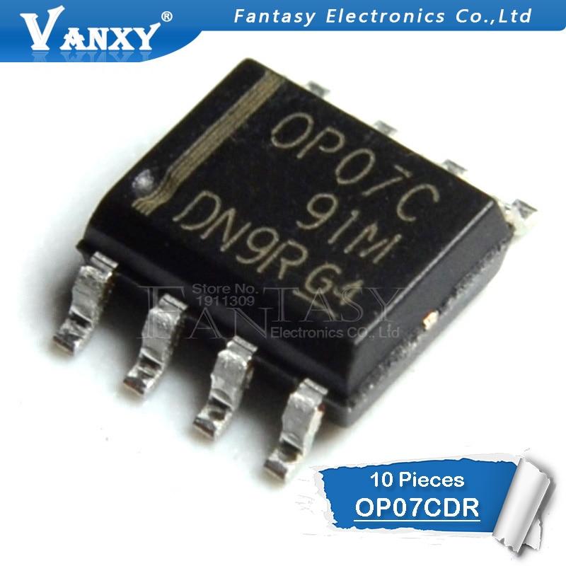 10PCS OP07CDR SOP8 OP07C SOP OP07 SOP-8 SMD New And Original IC