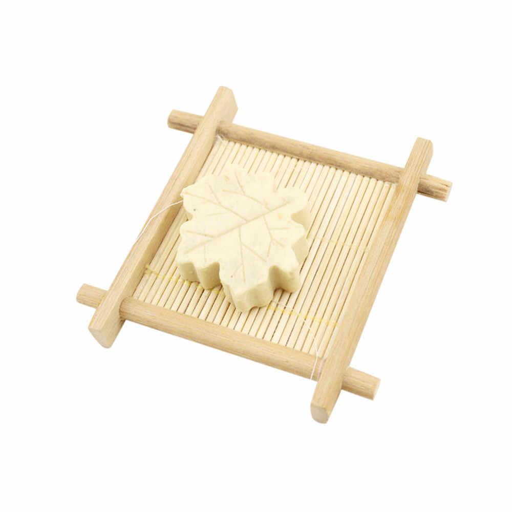 Alami Kayu Bambu Kamar Mandi Shower Sabun Tray Dish Penyimpanan Pemegang Plate New Y