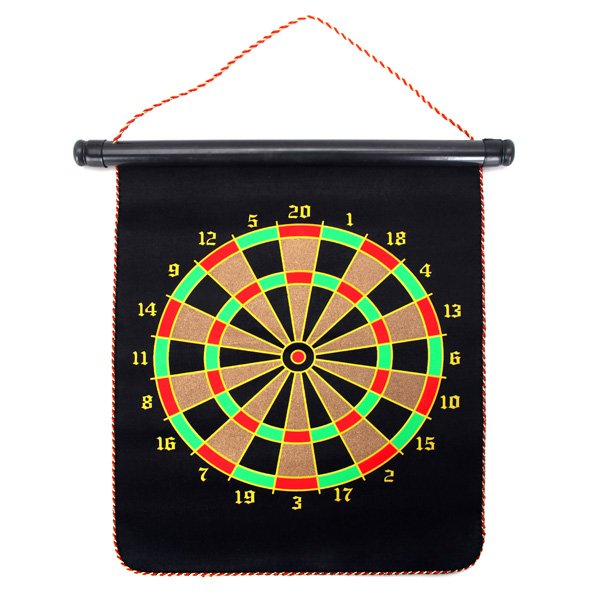 Hanging Magnetic Traditional Dart Board 2 Targets with 4 Magnetic Darts Indoor Portable Travel Fun Gift For Children Adult Game