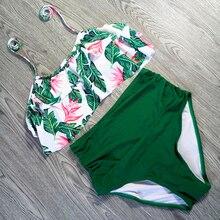 Print Sexy Women Swimwear High Waist Bikini Plus Size S-3XL Swimsuit Beach Bathing Suit Push Up Bikini Set Maillot De Bain Femme стоимость