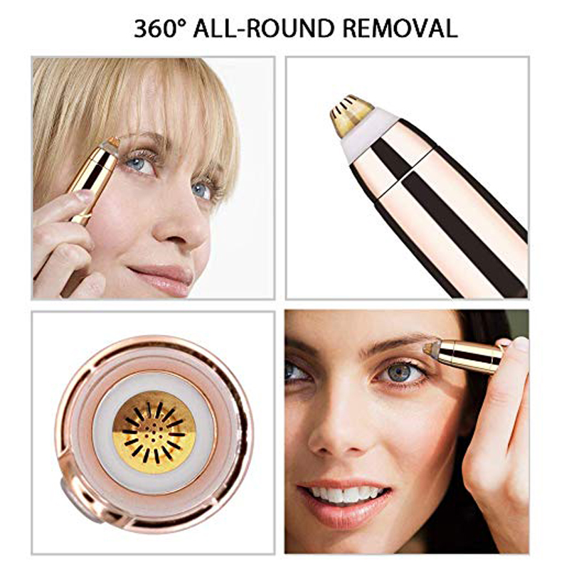 Portable Electric Painless Eyebrow Epilator Trimmer For Women Lipstick Eye Brow Epilator Pen Face Hair Remover Shaver Razor 8