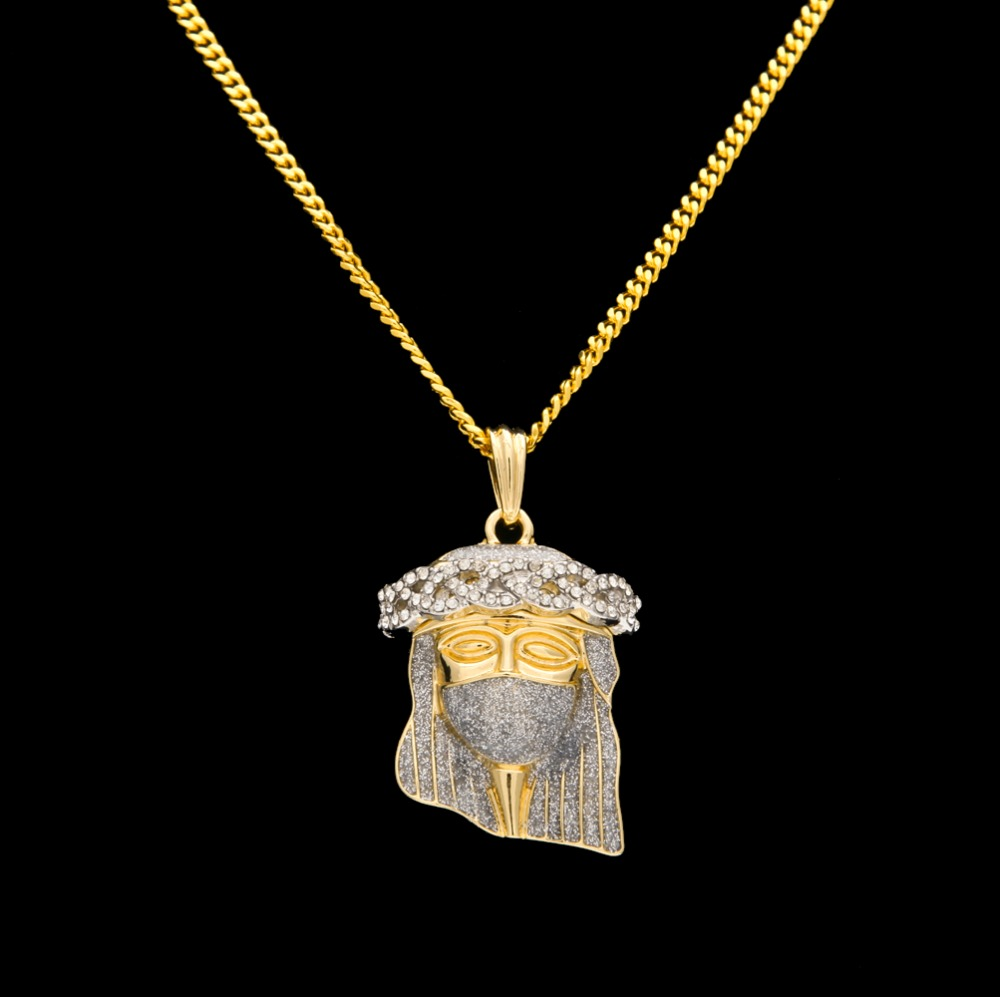 square of img angel jesus mirror filled copy products chain fully out iced pendant rope round gold with