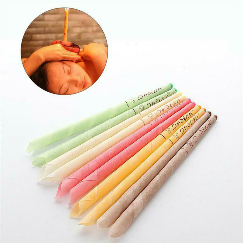 NEW 10Pcs Ear Wax Cleaner Removal Indian Coning Fragrance Candles Healthy Care L Candles Hearing Treatment Care Healthy
