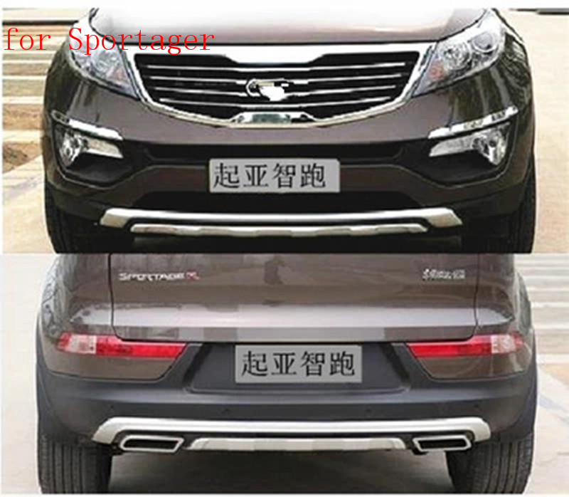 ABS Front+Rear bumper cover trim plastic  Bumper bars front and rear bumper fit for 2011-2016 Kia Sportager Car stylingABS Front+Rear bumper cover trim plastic  Bumper bars front and rear bumper fit for 2011-2016 Kia Sportager Car styling