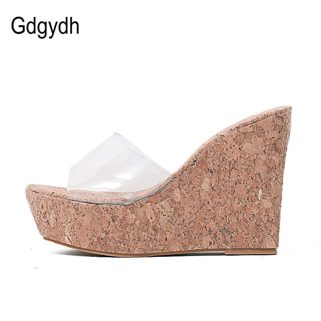 e44c34490 ... New Summer Transparent Platform Wedges Sandals Women Fashion High Heels  Female Summer Shoes Size 34-40 Drop Shipping. Previous. Next