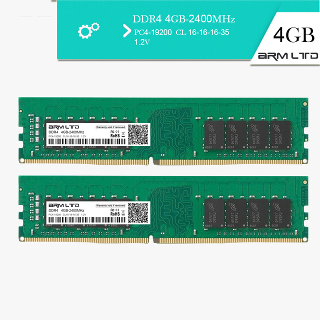US $75 89 |ARM Lrd Memory RAM DDR4 4GB 8GB 2400MHz CL16 1 2V 1Rx8 288 Pin  SODIMM Ram For Desktop Memory Stick Compatible PC4 2133-in RAMs from